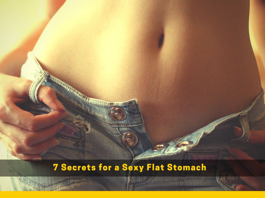 Sexy flat stomach