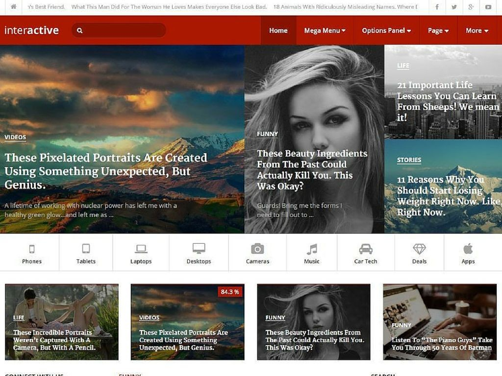 Interactive WordPress Theme 2016