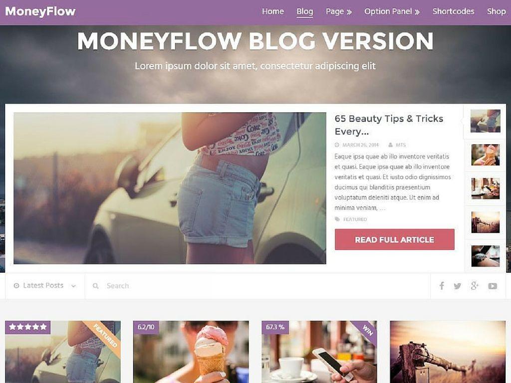 MoneyFlow WordPress Theme 2016