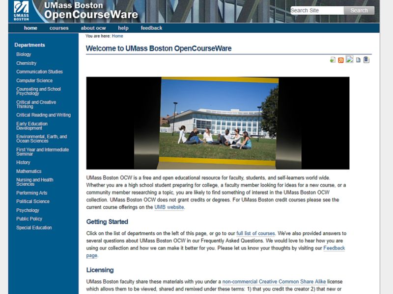 UMass Boston Open Courseware for Best Online Courses