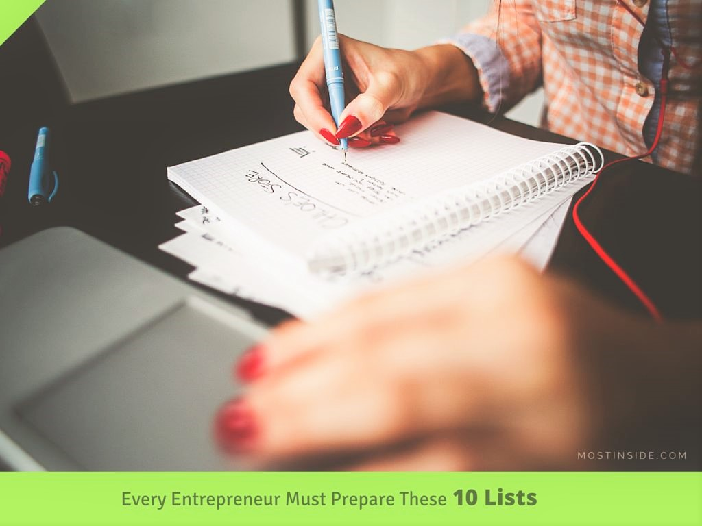 Entrepreneur 10 Lists