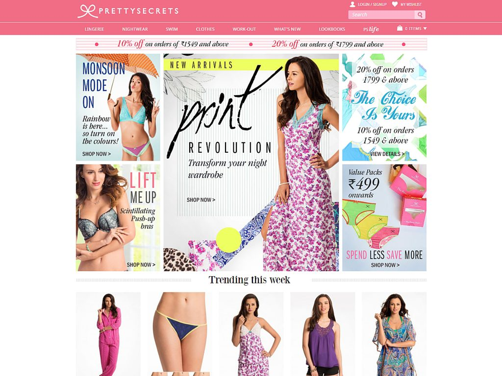 Top Websites for Lingerie Online Shopping in India