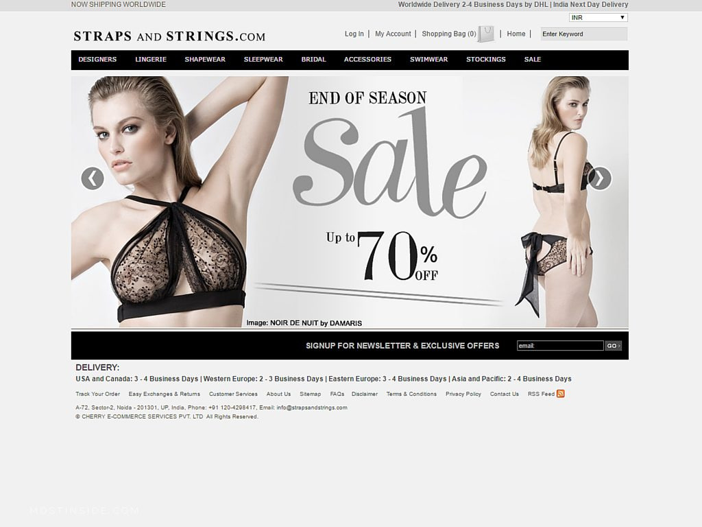 Top websites for lingerie online shopping in india for Best online websites for shopping