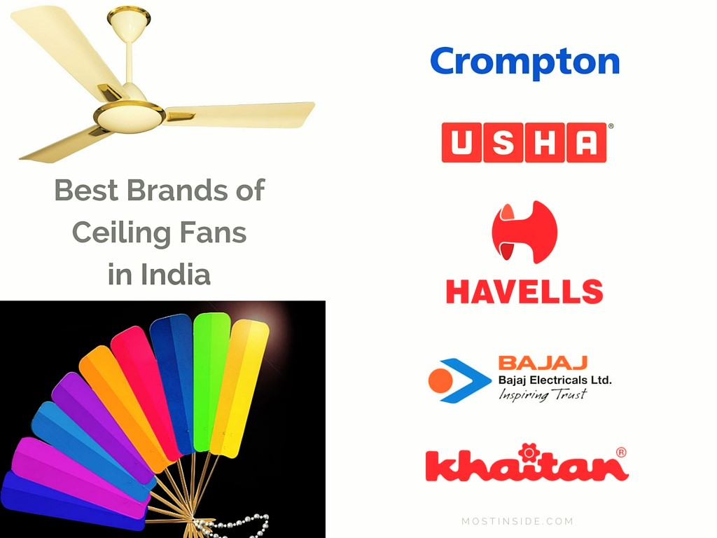 Best Brands Of Ceiling Fans In India