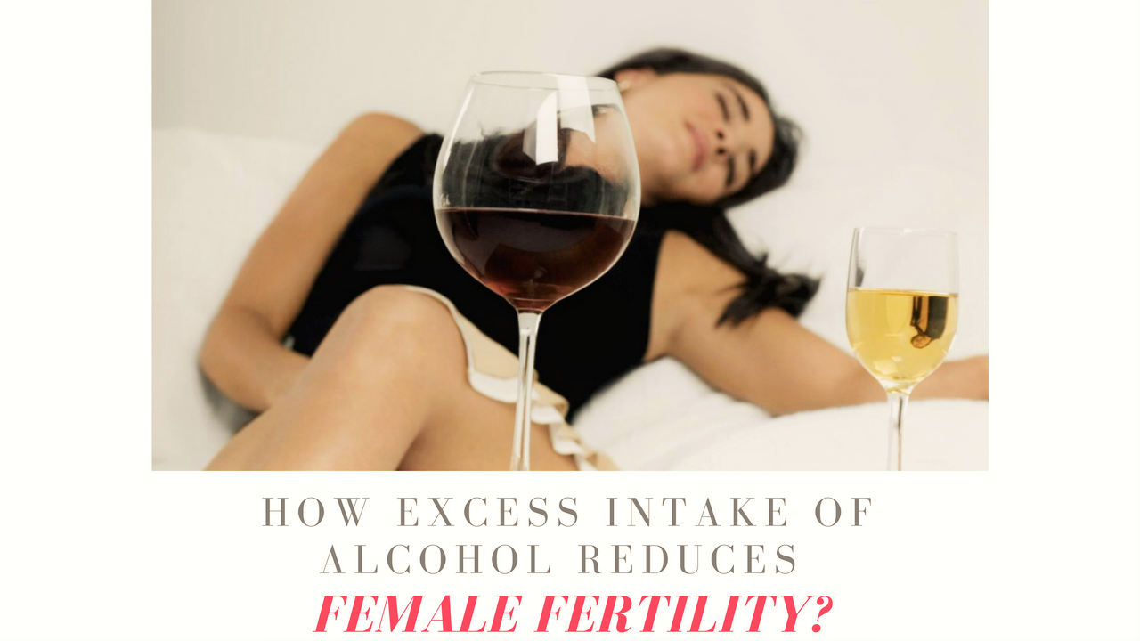 Alcohol Reduces Female Fertility