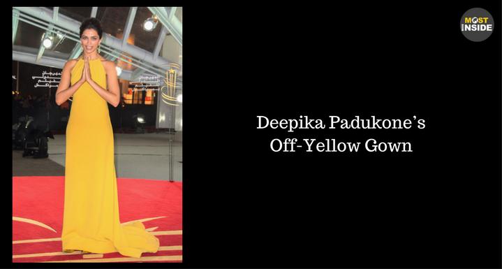 Deepika Padukone's Off-Yellow Gown