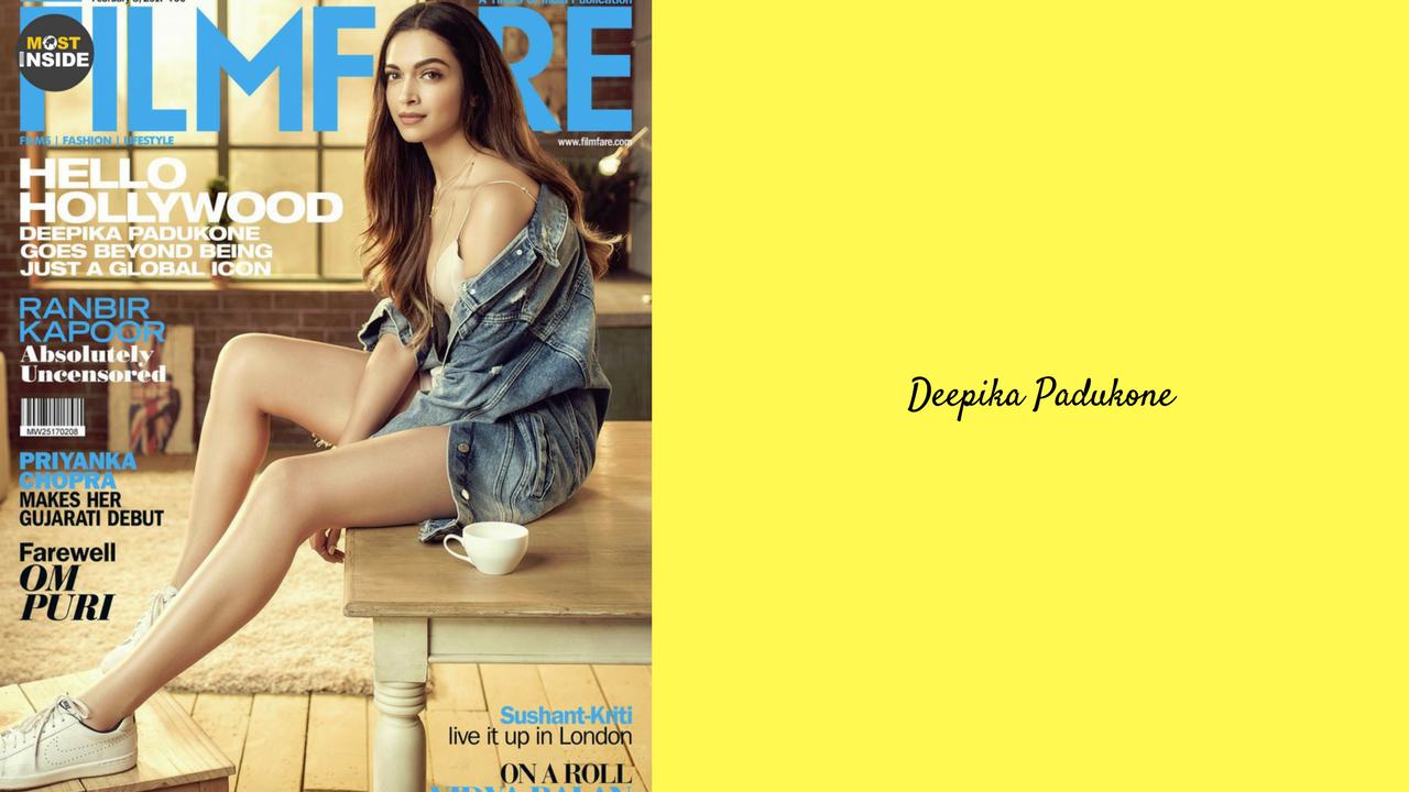 Deepika Padukone Filmfare Magazine 2017