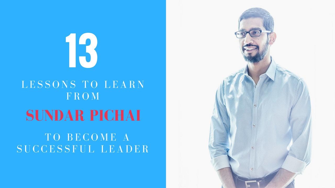 Learn From Sundar Pichai