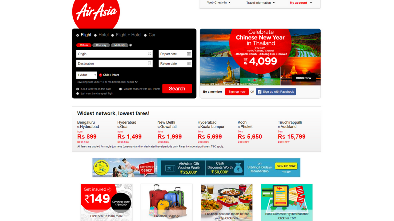 booking flight with airasia Compare airasia flights prices with other airlines see airasia flights, routes, maps, prices across month and find cheapest flights book directly - no extra fees.