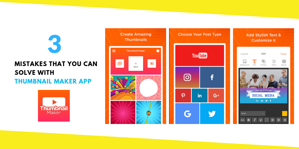 3 Mistakes That You Can Solve With Thumbnail Maker App