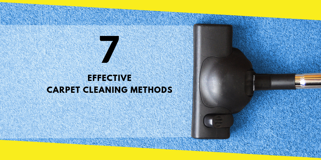 7 Effective Carpet Cleaning Methods You Should Know
